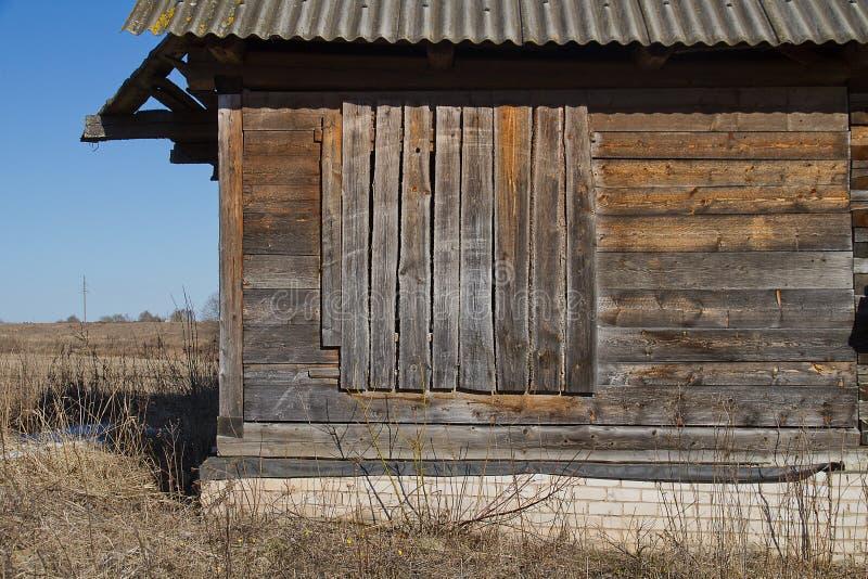 Casa abandonada velha dos fazendeiros fotografia de stock royalty free