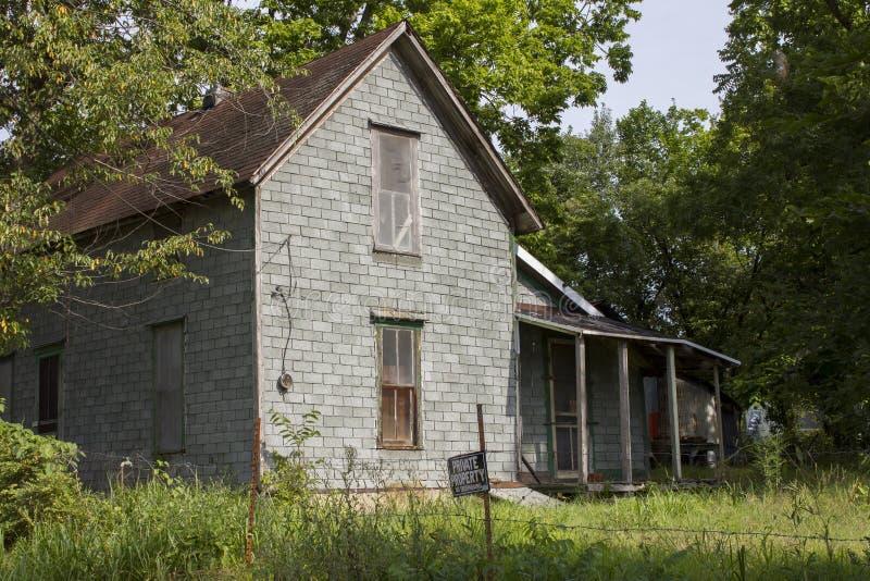 Casa abbandonata dell'azienda agricola fotografia stock
