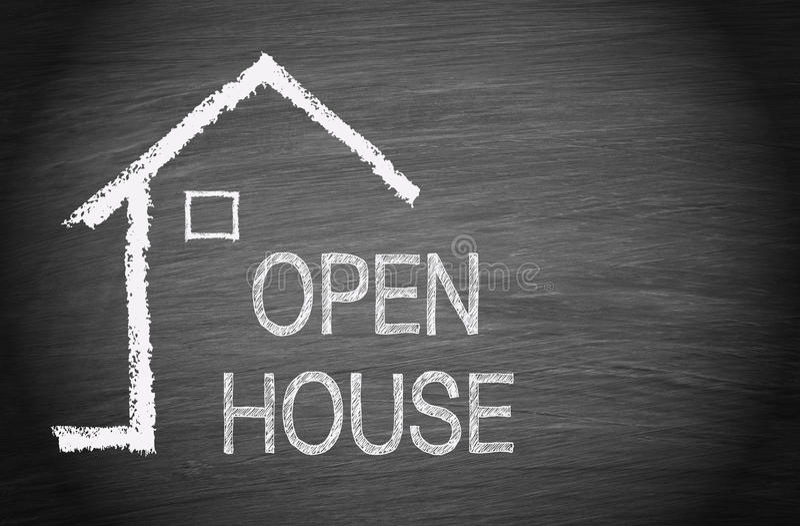 Casa abierta - Real Estate foto de archivo