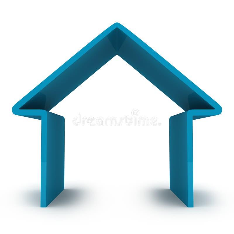 Casa abstrata ilustração stock