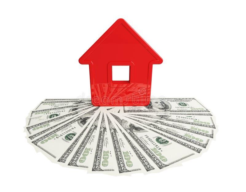 Casa abstrata com um cem-dólar ilustração royalty free