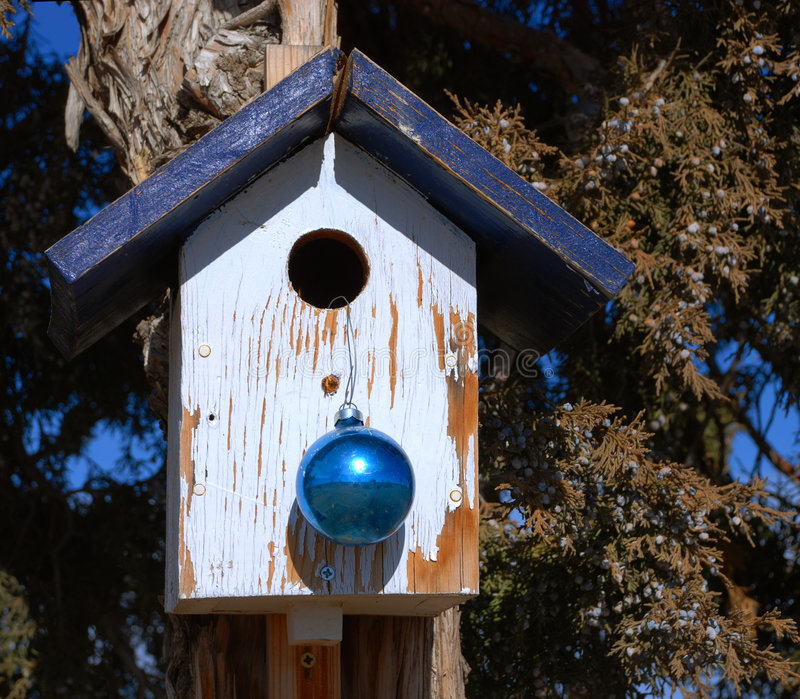 Casa adornada del pájaro foto de archivo