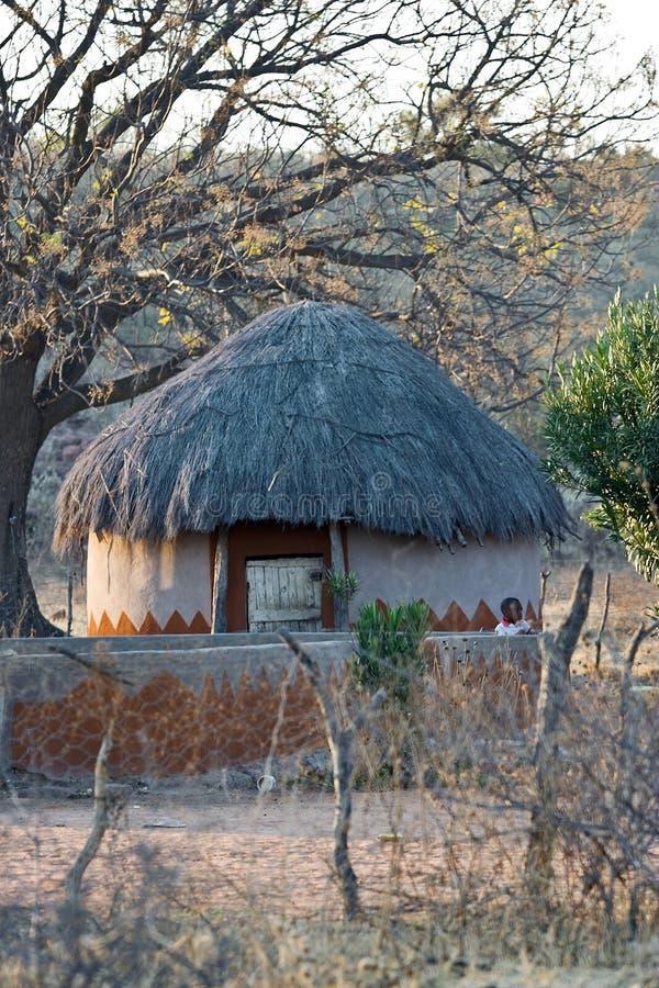 Casa africana del villaggio fotografia stock libera da diritti