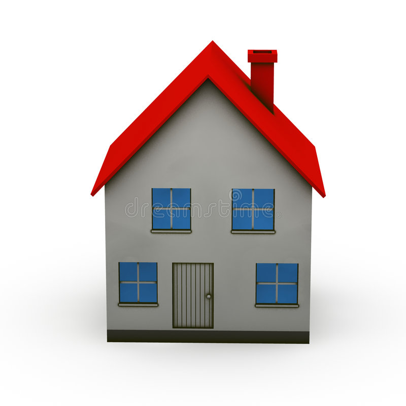 Casa aislada stock de ilustración