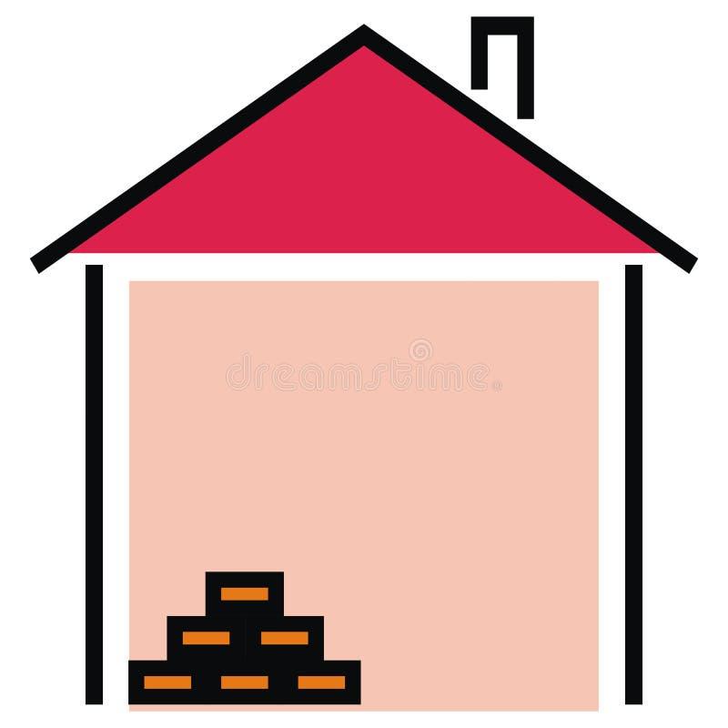 Casa, albañilería, icono del vector libre illustration