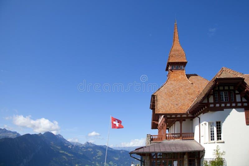 Casa alpestre en Interlaken imagen de archivo libre de regalías