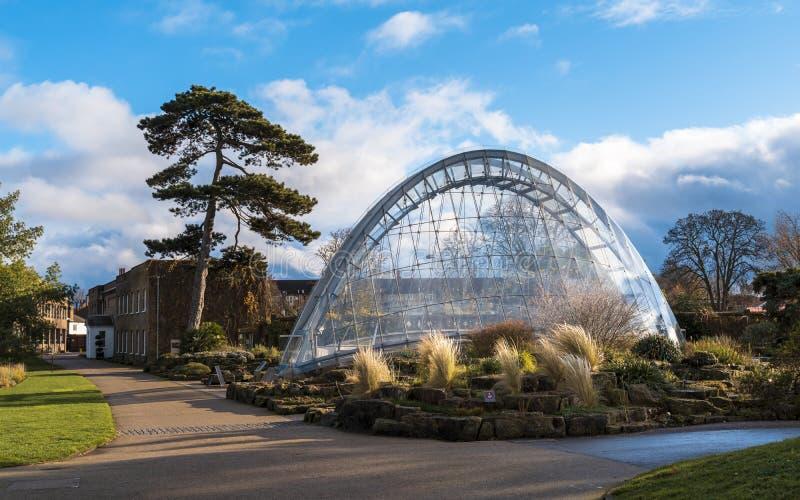 Casa alpina de Davies em jardins de Kew no inverno/outono imagem de stock