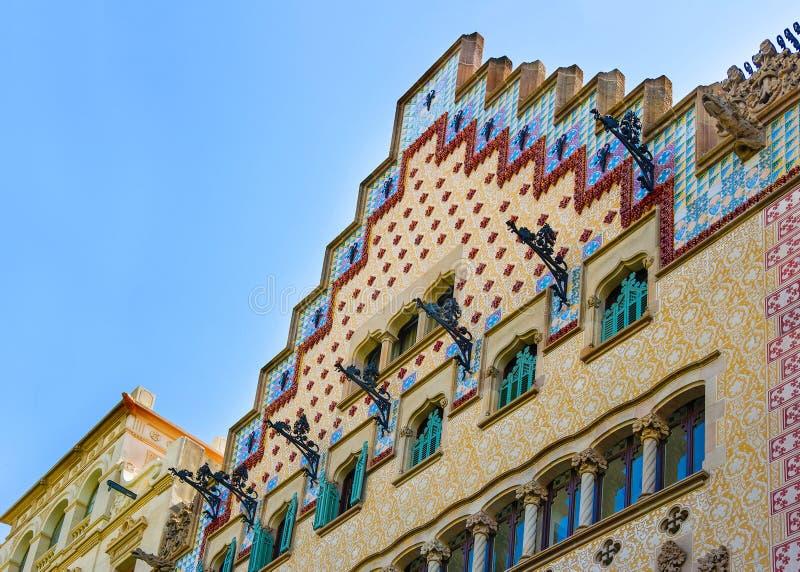 Casa Amatller w bloku niesnaski w Eixample Barcelona fotografia royalty free