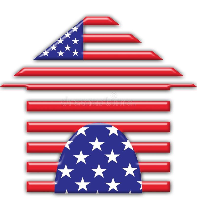 Casa americana illustrazione vettoriale