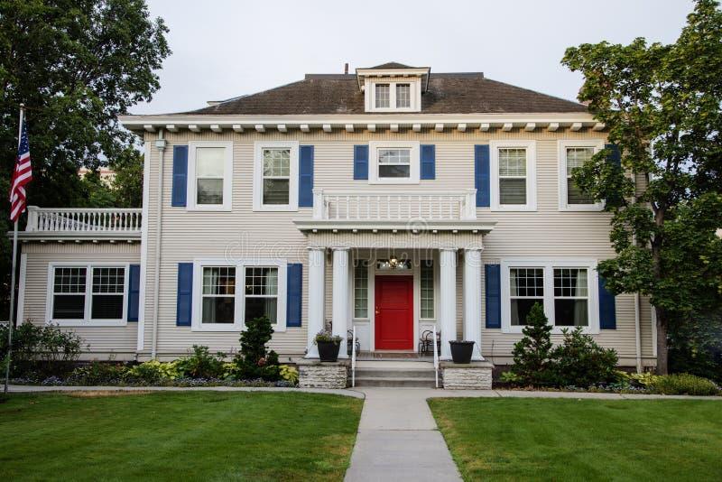 Casa americana classica fotografie stock