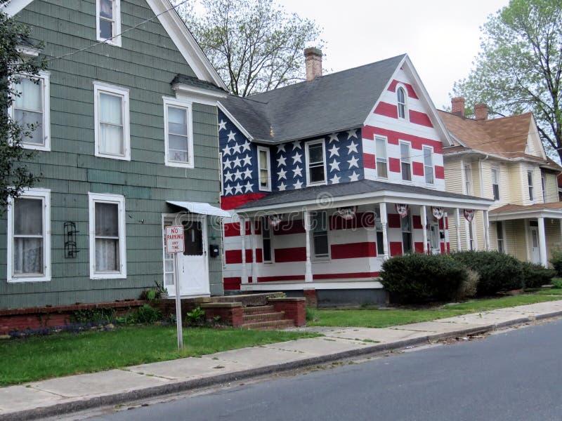Casa americana di Cambridge Maryland su una via 2016 immagini stock libere da diritti