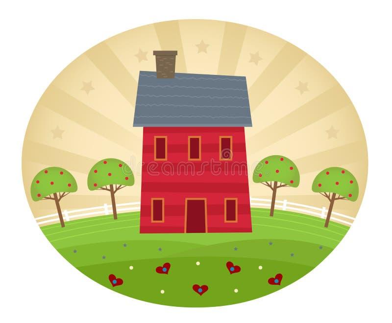 Casa americana di stile royalty illustrazione gratis