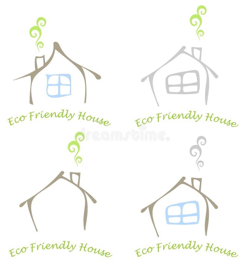 Casa amichevole di eco illustrazione vettoriale for Software gratuito per la costruzione della casa