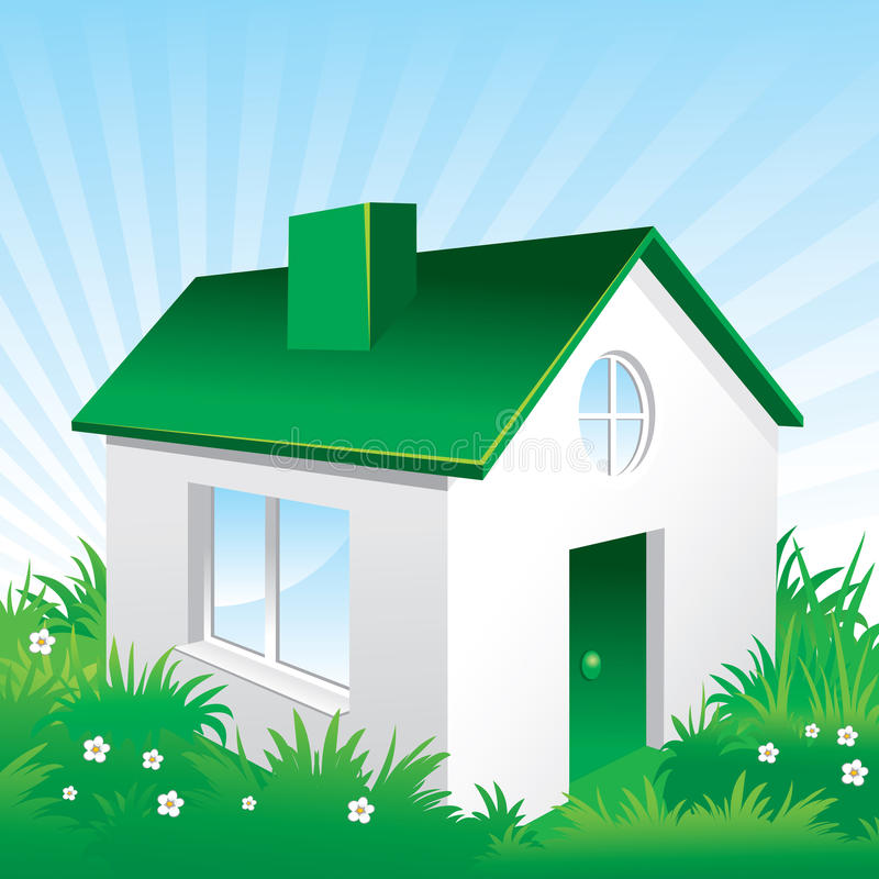 Casa amichevole di Eco royalty illustrazione gratis