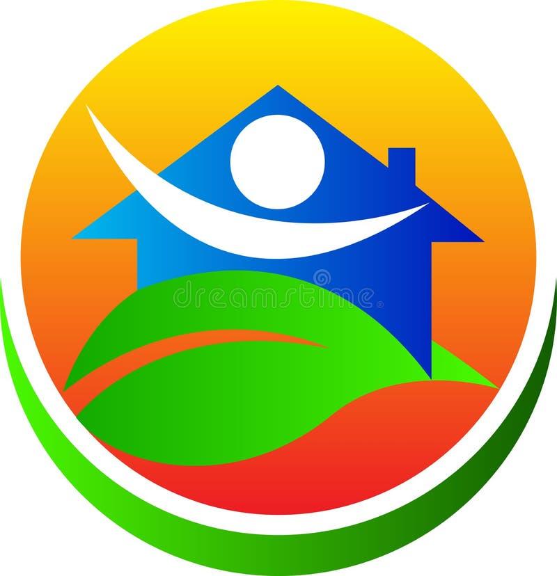 Casa amigável de Eco ilustração stock