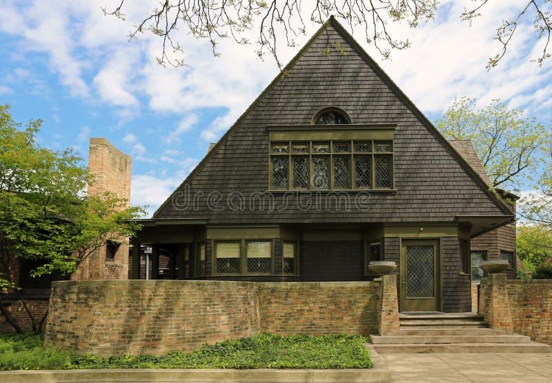 Casa studio del frank lloyd wright fotografia stock for Frank lloyd wright piani per la casa