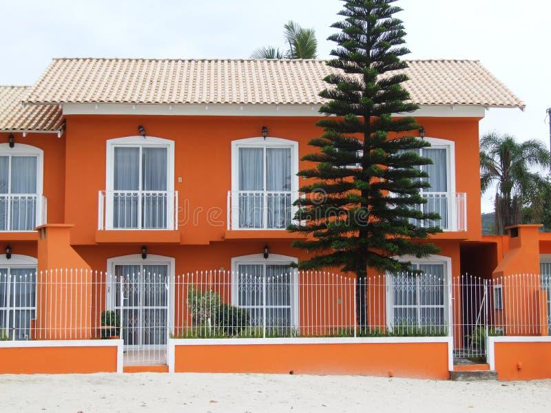 Casa anaranjada foto de archivo libre de regalías
