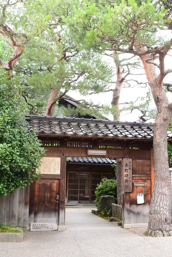 Casa antica del samurai in Nagamachi Kanazawa Prefettura di Ishikawa japan fotografie stock