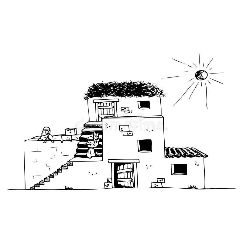 Casa antiga ilustração royalty free