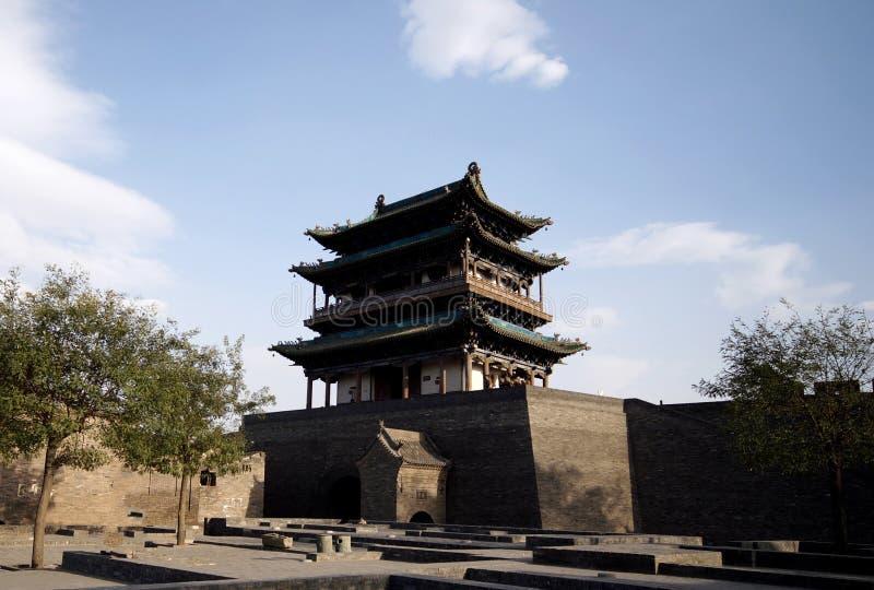 Casa antiga da porta da cidade de Pingyao imagem de stock