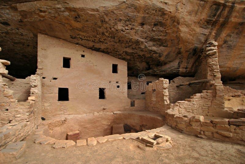 Casa antiga do nativo americano fotografia de stock