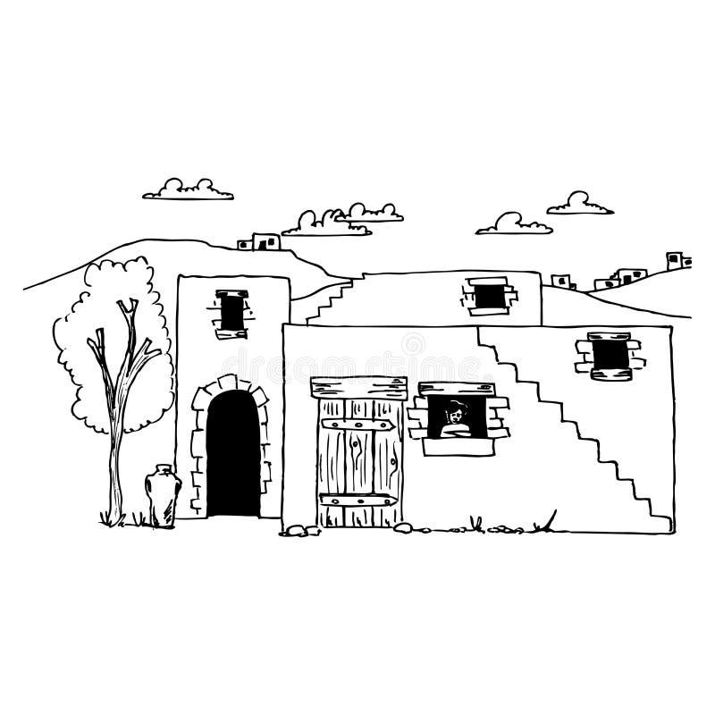 Casa antigua ilustración del vector