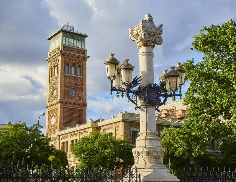 Casa Arabe, arabiskt hus, av Madrid, Spanien royaltyfria bilder