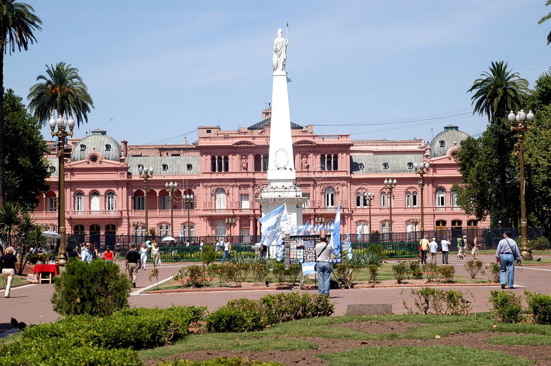 casa argentina rosada zdjęcie stock