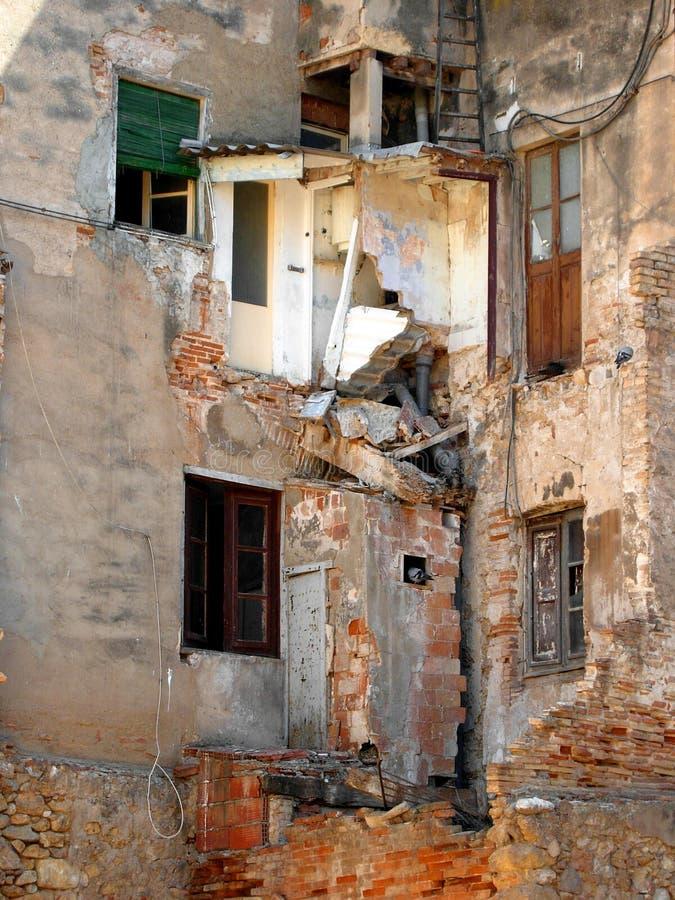 Casa arruinada fotografia de stock