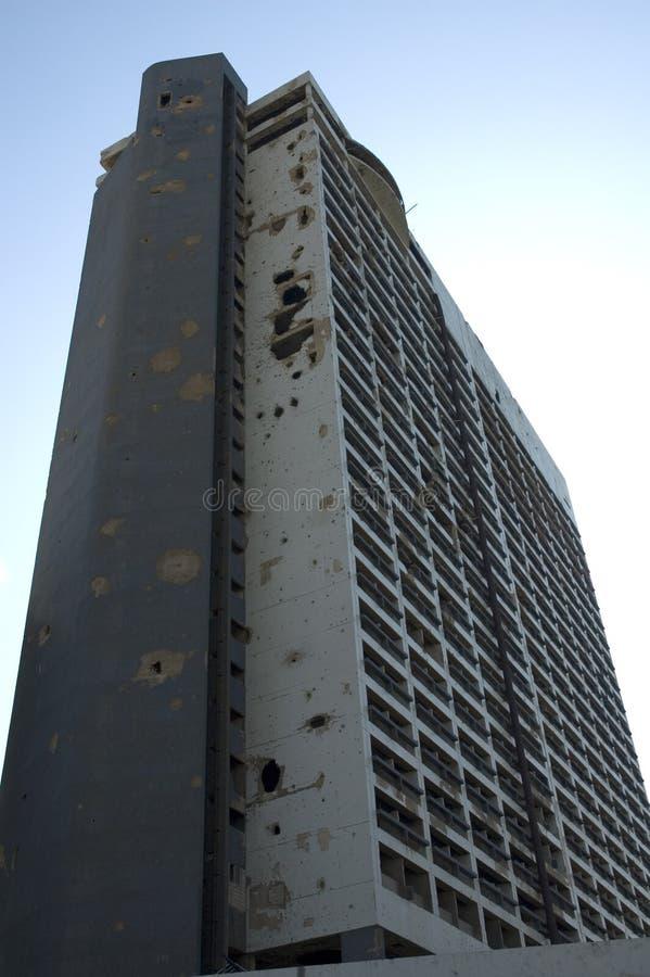 Casa arruinada, Beirut, Líbano imagenes de archivo