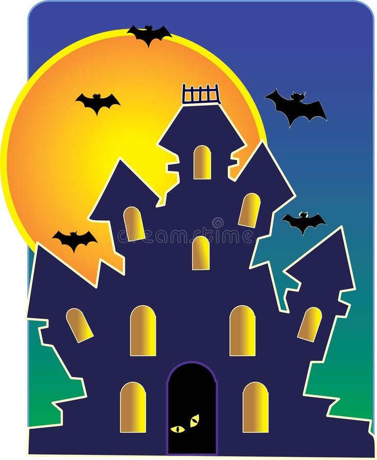 Casa assombrada ilustração do vetor