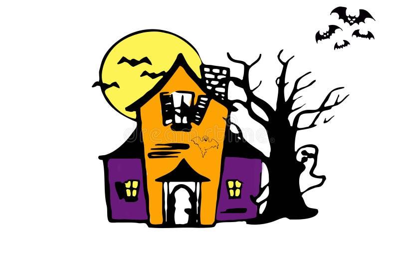 Casa assombrada ilustração stock