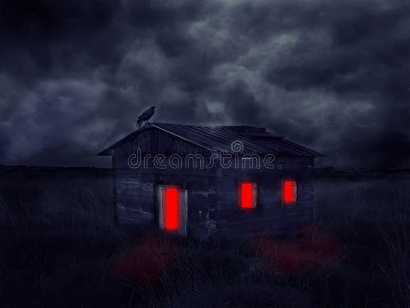 Casa assombrada abandonada imagens de stock royalty free