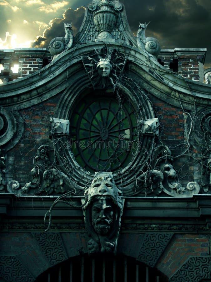 casa assombrada em Paris imagens de stock royalty free