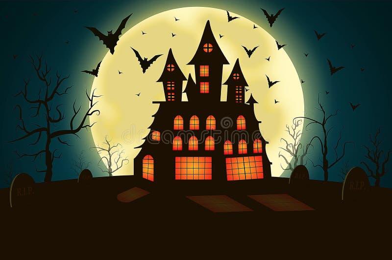 Casa assustador ilustração royalty free