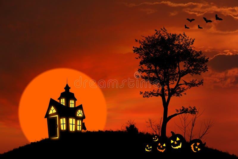 Casa assustador ilustração stock