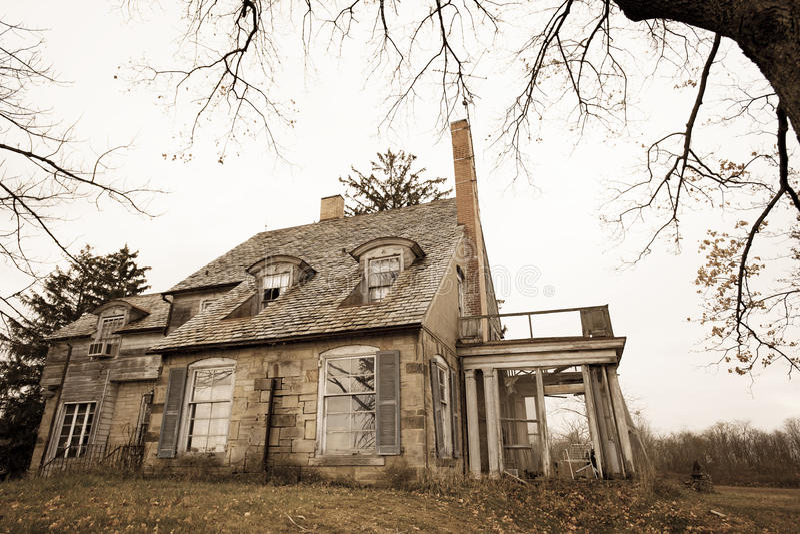 Casa assustador imagem de stock royalty free