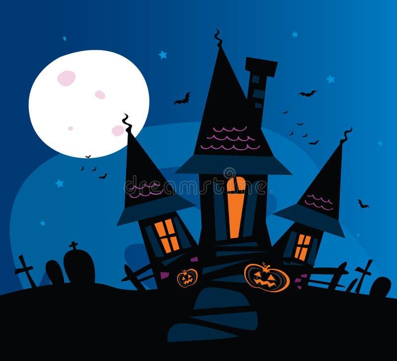 Casa assustador assombrada ilustração royalty free