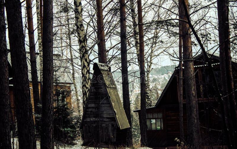Casa asustadiza foto de archivo