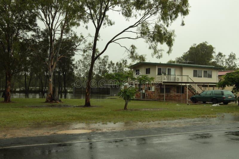 Casa aumentante di Rothwell delle acque di inondazione fotografie stock libere da diritti