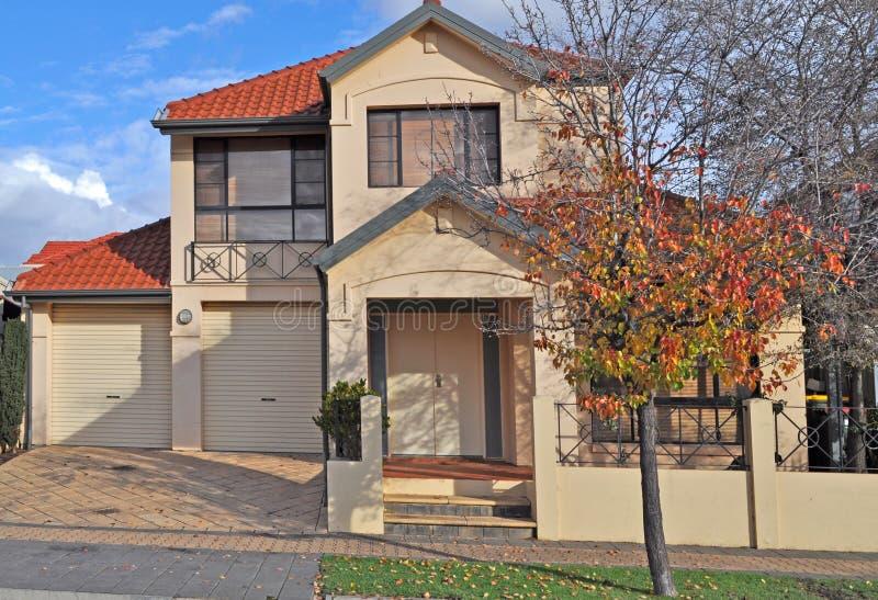 Casa australiana da família. imagens de stock