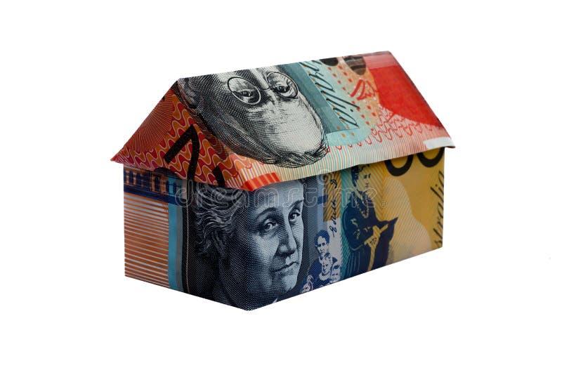 Casa australiana del dinero de la papiroflexia imagen de archivo libre de regalías
