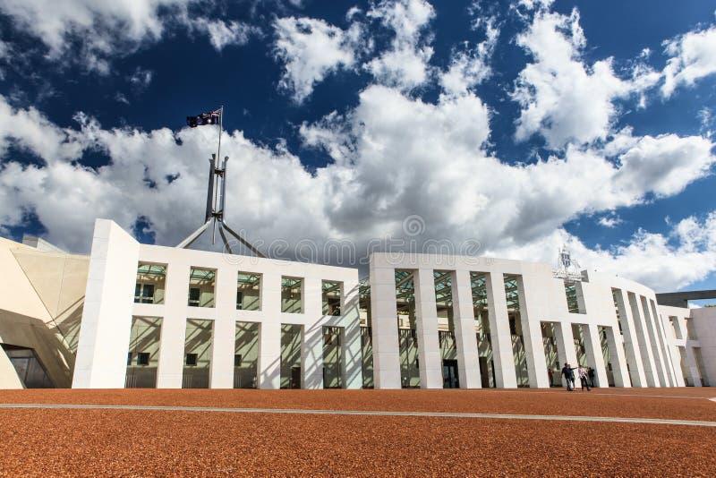 Casa australiana del parlamento nazionale a Canberra fotografia stock libera da diritti