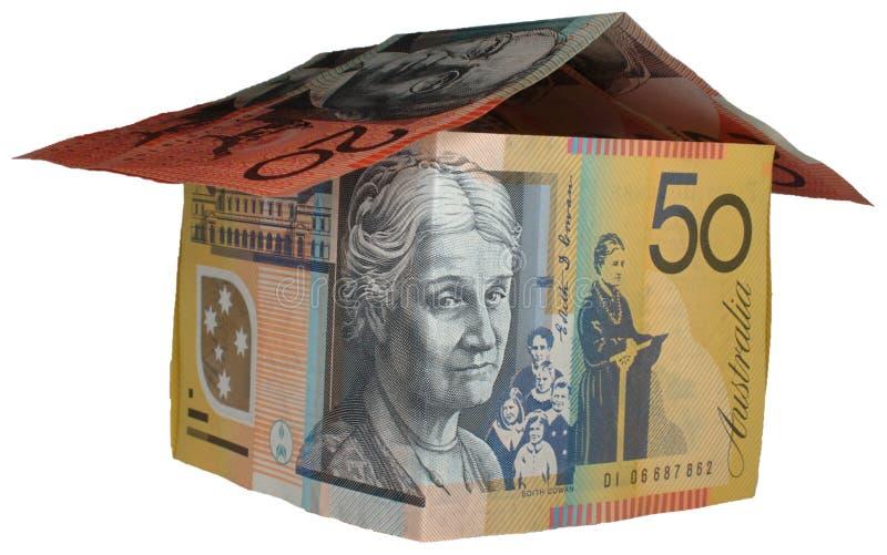 Casa australiana do dinheiro fotografia de stock royalty free