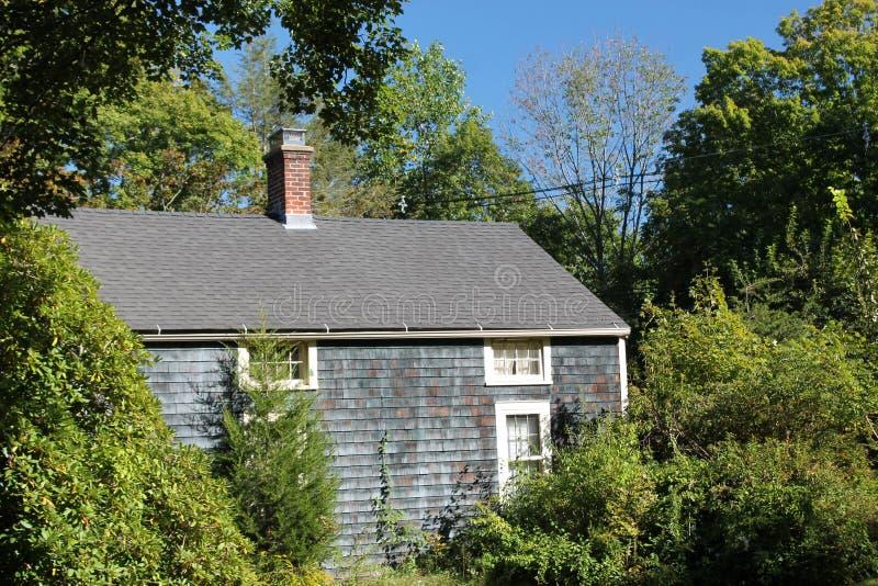 A casa azul imagem de stock