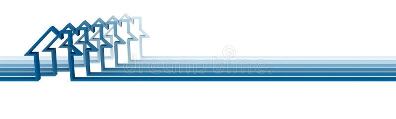 Casa azul abstrata na linha ilustração do vetor