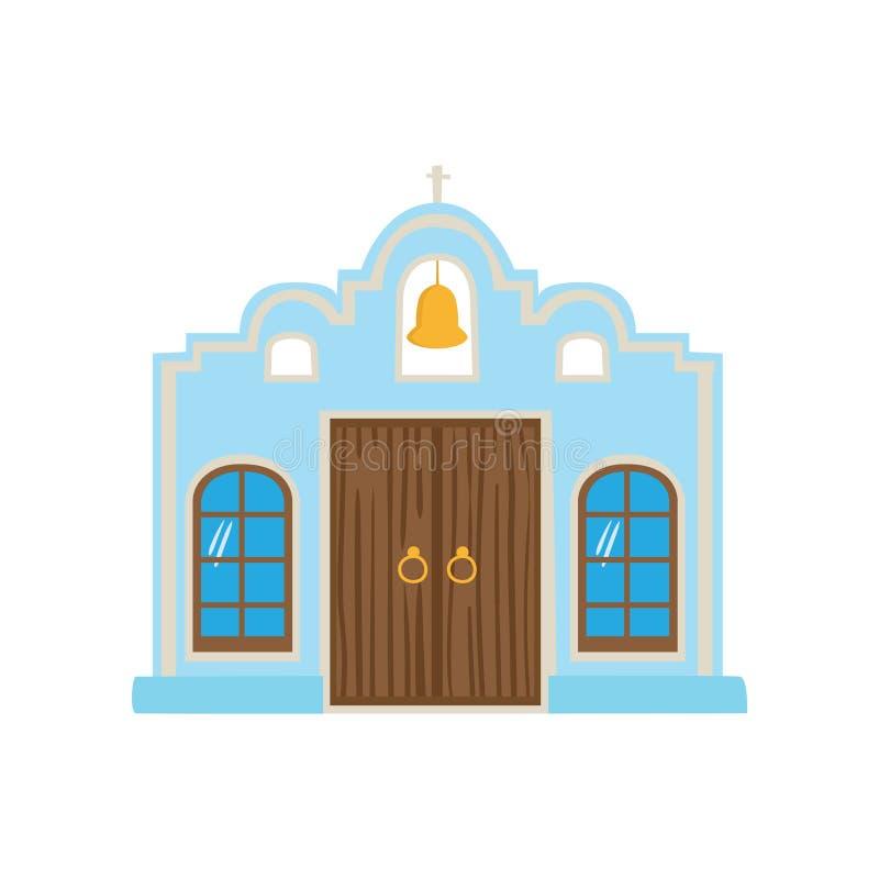 Casa azul mexicana, ejemplo del vector de la historieta de la fachada de Ciudad de México ilustración del vector