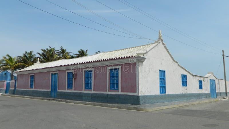 Casa Azul-Rosada fotos de stock royalty free