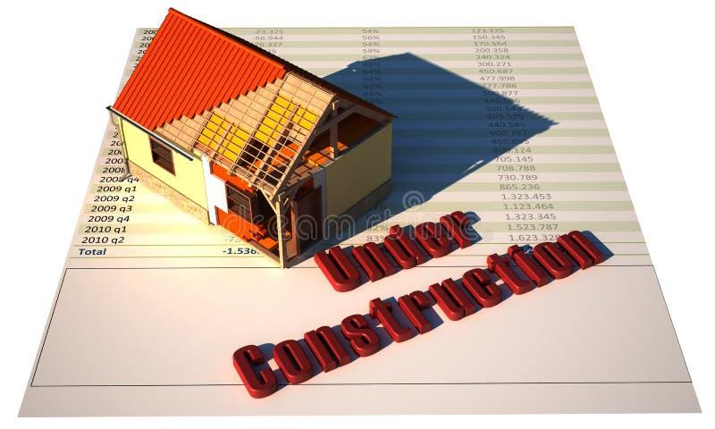 Casa bajo construcción stock de ilustración