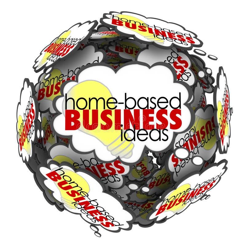 A casa baseou ideias da sessão de reflexão da esfera da nuvem do pensamento do negócio ilustração stock
